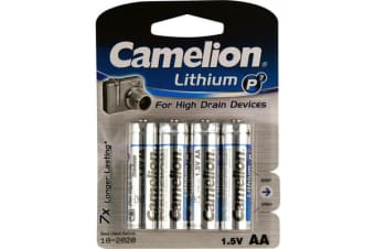 Camelion Aa Lithium Battery - 4 Pack