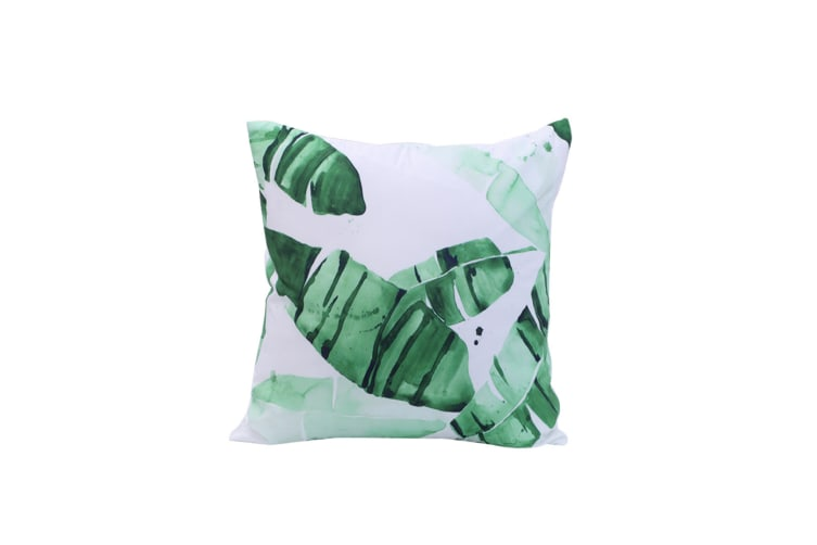 5Pcs Vegetable Printing Pillowcase Vehicle Sofa Cushion Cover - 2 Green 45X45Cm