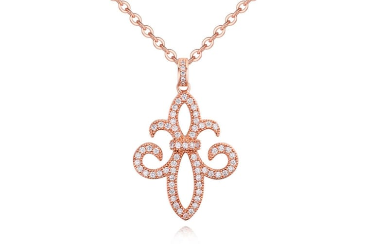 Enchant Necklace-Rose Gold/Clear