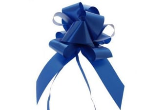 Apac 50mm Block Colour Decorative Pull Bow Ribbon (Royal Blue)