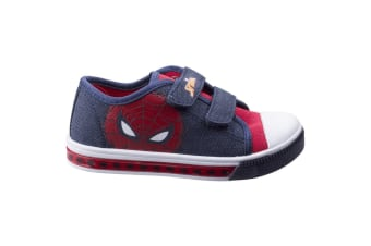 Leomil Childrens Boys Spiderman Touch Fastening Trainers (Dark Blue/Red) (11.5 Child UK)
