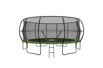 Genki 16ft Round Outdoor Trampoline Set with Safety Enclosure & Ladder 150KG