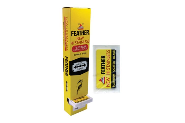 Feather Hi-stainless Platinum Coated Double Edge 5 Blades-100 Blades