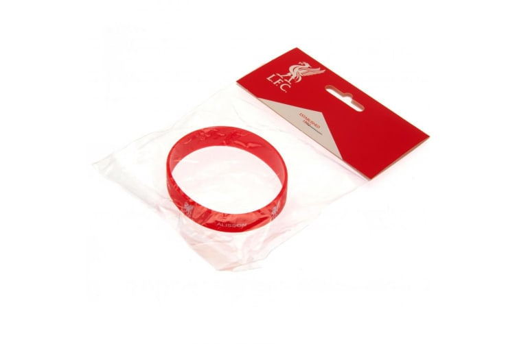 Liverpool FC Alisson Silicone Wristband (Red) (One Size)