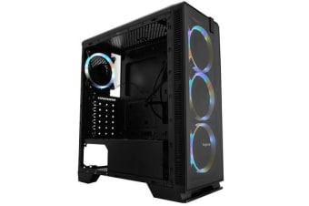 Segotep Halo 7 Plus Mid Tower Case with 4 x 12CM RGB Fans