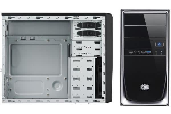 Coolermaster RC344 Black with Silver mATX Case with 420W PSU. 1x USB3.0 + USB2.0