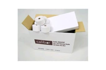 CALIBOR RO4476T CALIBOR THERMAL PAPER 44X76 50 ROLLS / BOX