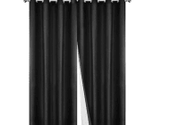 Set of 2 180CM Blockout Eyelet Curtain (Black)