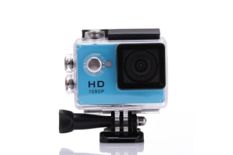 1080P Full Hd Sports Camera 30M Waterproof Loop Rec A9 Action Camera - Blue