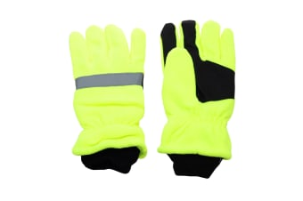 Hi-Vis Adults Reflective  Waterproof Thinsulate Gloves. (Yellow) (ONE SIZE)