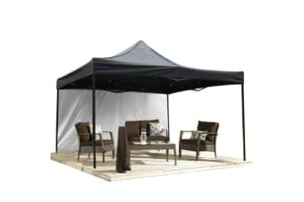 3x3m Pop Up Gazebo Folding Marquee in Black
