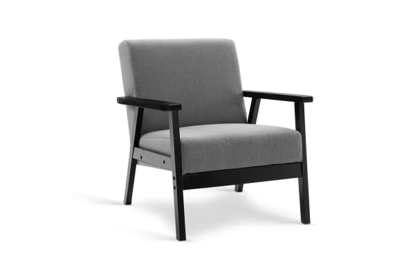 Fabric Dining Armchair (Black/Grey)
