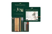 Faber-Castell Pitt Monochrome Set - 21 Pieces (Tin Case)