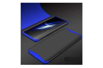 Frosted Shield Matte Plastic Ultra Thin Shockproof Case For Oppo Blue+Black A77(China)