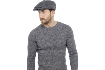 Tom Franks Mens Wool Blend Flat Cap (Charcoal)