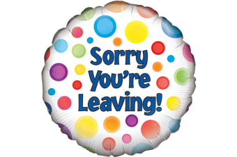 Oaktree 18 Inch Sorry Youre Leaving Balloon (Multicoloured)