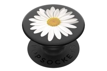 PopSockets Universal Swappable PopGrip Holder/Stand w/ Base for Phones Daisy WHT