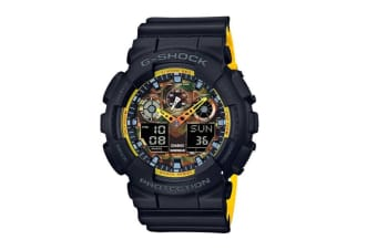 Casio G-Shock Ana-Digital Watch - Black/Yellow (GA100BY-1A)