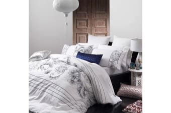 Miranda Indigo Quilt Cover Set by Ultima