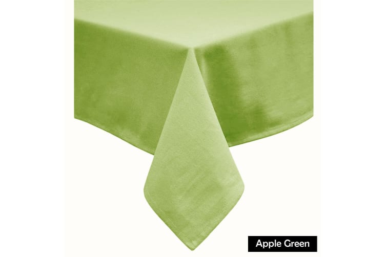 Cotton Blend Table Cloth Apple Green 180cm Round
