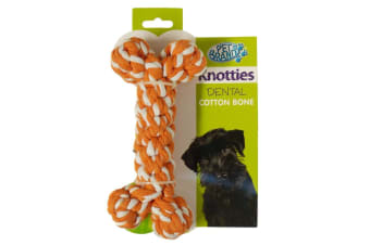 PetBrands Knotty Bone Shaped Dog Rope Toy (May Vary)