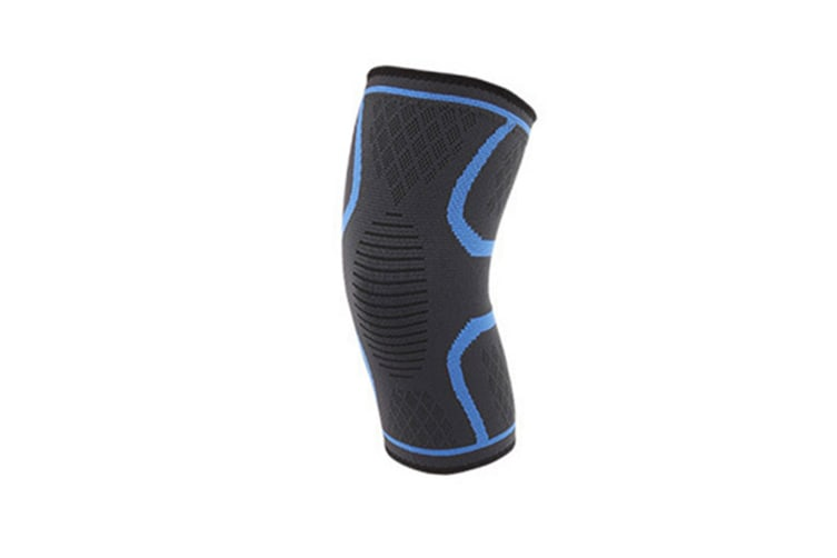 2Pcs Male And Female Black Outdoor Sports Kneecap For Running Basketball Soccer Mountaineering Blue Xl