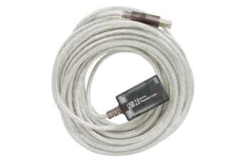 Cabac 12m USB Active Extension Cable, USB 1.1 and USB2.0 ~CBUSB2EXT LS