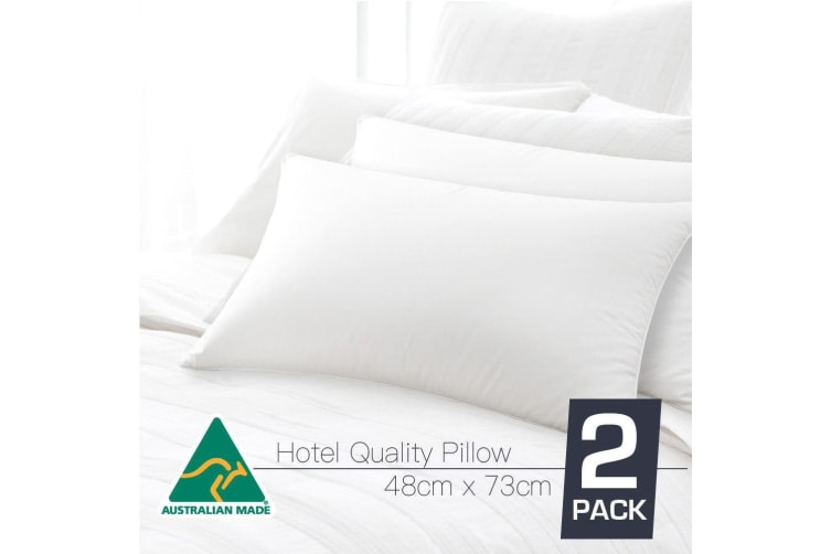 Twin Pack Australian Made Hotel Quality Pillow
