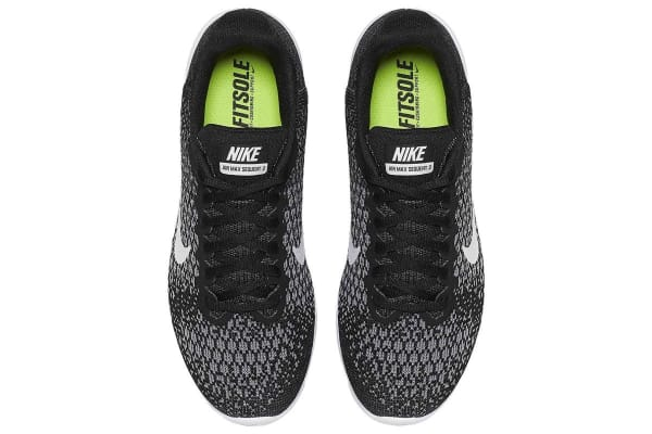 Nike Women's Air Max Sequent 2 Running Shoe (Black/Dark Grey/White, Size 6)