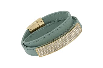 Swarovski Vio Cielo Leather Bracelet