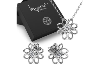 Boxed Hologram Necklace and Earrings Sets Embellished with Swarovski crystals