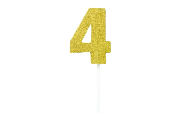Bristol Novelty Diamond Number Cake Topper (Gold) (3)