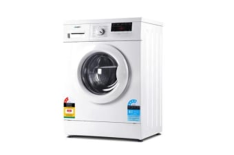 Devanti 7kg Front Load Washing Machine Quick Wash 24h Delay Start Automatic