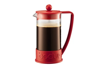Bodum Brazil French Press Coffee Maker - Red,  8 Cup, 1.0 L, 34 oz (10938-294)