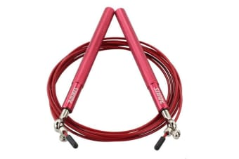 Adjustable High Speed Steel Skipping Jump Rope Dual Bearings Gym Boxing Exercise - Red