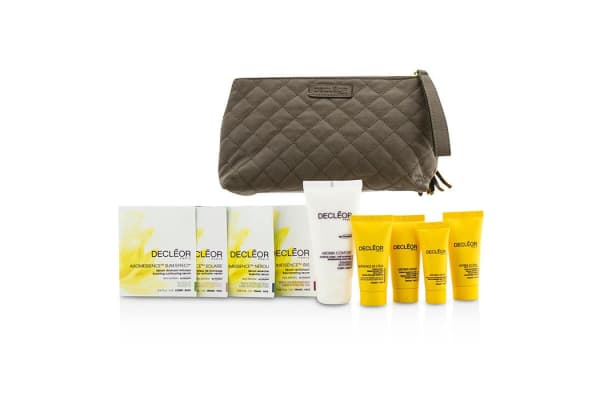 Decleor Travel Set: Day Cream 15ml + Rich Cream 15ml + Night Cream 15ml + Night Balm 5ml + Body Milk 50ml + 4 Samples + Bag (9pcs+1bag)