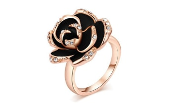 Crystal Rose Gold Plated Jewelry Rings 9