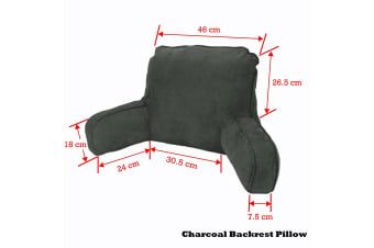 Standard Backrest Pillow Charcoal