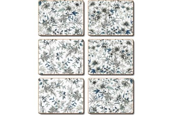 Cinnamon Umbria Blue Dunoon Placemat Set of 6