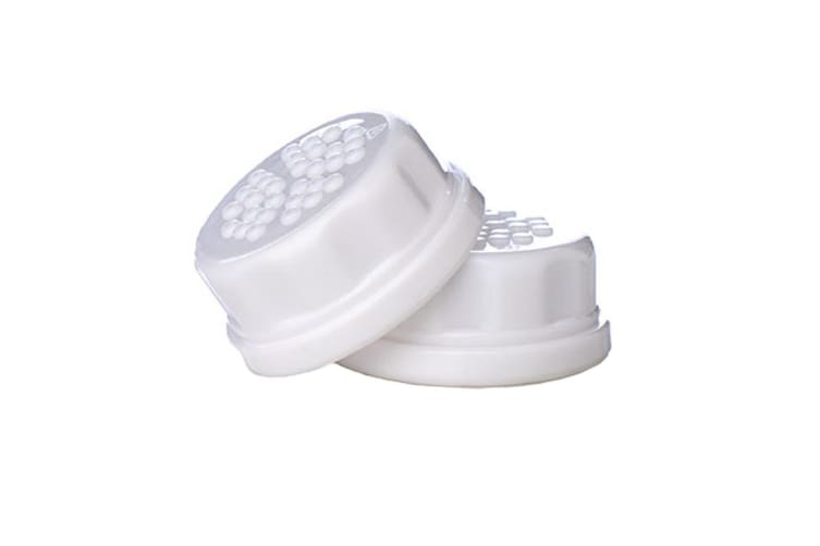 Lifefactory Sippy Flat Cap Set of 2 White