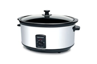 Morphy Richards 48715 6.5L Electric Stainless Steel Slow Cooker Crock Pot/Pan