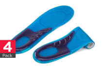 Sports Gel Insoles (Men's) - 4 Pack