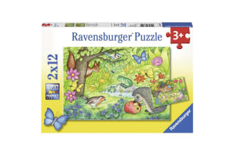 Ravensburger Animals in Our Garden Puzzle - 2 x 12 Piece