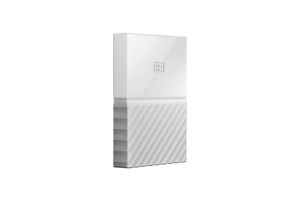 WD My Passport 3TB USB 3.0 Portable Hard Drive - White (WDBYFT0030BWT-WESN)