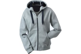 James and Nicholson Womens/Ladies Doubleface Jacket (Sports Grey/Navy) (L)