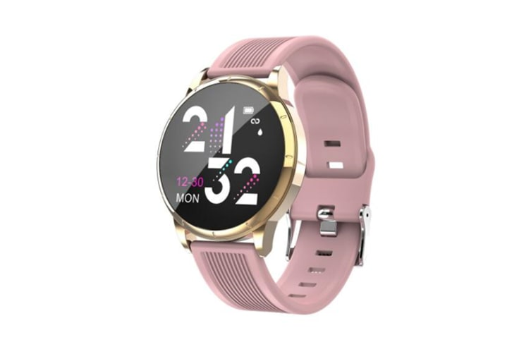WJS Wallpaper Change Color Display Wristband Heart Rate Blood Pressure Female Period Monitor Smart Watch-C