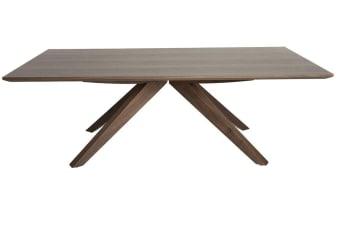 Amber Collection | Rectangular Wood Coffee Table | Walnut