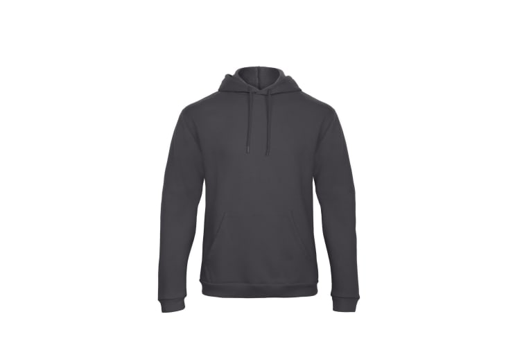 B&C Adults Unisex ID. 203 50/50 Hooded Sweatshirt (Anthracite) (M)
