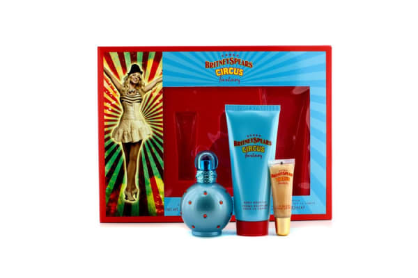 Britney Spears Circus Fantasy Coffret: Eau De Parfum Spray 50ml/1.7oz + Body Souffle 100ml/3.3oz + Lip Gloss 8ml/0.27oz (3pcs)