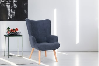 Shangri-La Milla Armchair (Midnight Blue)